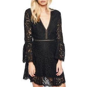 Bardot || Black Lace Dress